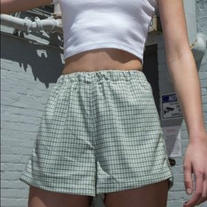 Brandy Green Grid Shorts